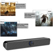 SADA V-193 USB Wired Computer Speaker SoundBar Stereo Subwoofer Powerful Music Player Bass Surround Sound Box 3.5mm Audio Input fo