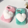 Love Heart Case For Samsung Galaxy A3 2016 Cute Rabbit Cover Hairy Fur Fluffy Phone Case