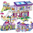 Goody girl modern convenience store villa block ice cream car party playground small particles scenario building blocks toys