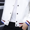 Cartier crocodile (CARTELO) jacket 2019 spring and autumn new men's trend wild short jacket jacket QT815-JK205 white L