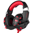 ONIKUMA K2 USB Gaming Headset Over Ear Virtual 7.1 Channel Gaming Headphone with LED Light and Microphone Red for PC Computer Lapt