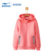 Hongxing Erke (ERKE) children's clothing jacket girls cardigan hooded sweater sports shirt wild casual jacket 64219114001 hot pink 165