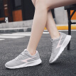 Cartier crocodile casual sports white shoes female simple tie with thick bottom Joker running breathable low help 0122 gray powder 35