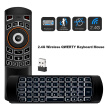 2.4G Air Mouse Wireless Keyboard Backlight 6-Axis Motion Sense Remote Control IR Learning for Mini PC Smart TV Android TV Box Proj