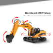 HUI NA TOYS 2.4GHz 15CH Engineering Electric Excavator Construction Truck RC Car Plastic Version