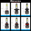 1pair Automobile LED Headlamp Bulb 12V 60W 6500k white Car Fog Light Super Bright Spotlight lamp H1 H11 9006 H7 H4 Car Headlight