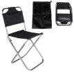 Portable Folding Aluminum Oxford Cloth Chair Outdoor Fishing Camping with Backrest Carry Bag Black