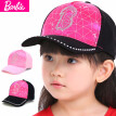 Barbie Children Hat Girls Baseball Cap Spring and Autumn Tide Girls Sun Hat Autumn Winter Baby Cap Sun Hat BC0180C Black 54CM