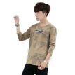Fuyi FORTEI Long Sleeve T-Shirt Men's Camouflage Casual Slim Round Collar Clothes Comfortable Soft Men's 8902 Khaki L