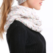 Winter Ribbed Knitted Scarf Thick Warm Wool Cashmere Circle Loop Ring Scarves Stylish Neck Warmer for Women and Men