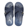 Pull back slippers men's sandals home wild outdoor leisure beach breathable waterproof wear solid color cross belt fashion classic HL3265 blue color 43 yards