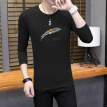 Scarecrow (MEXICAN) long-sleeved T-shirt male Korean version of Slim fun fashion casual personality trend versatile comfortable classic printing round neck bottoming t-shirt clothes men's black M