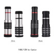 18X Optical Zoom Mobile Phone Telephoto Lens with Tripod for iPhone Samsung HTC Nokia Sony Black