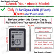 AFesar designed For Digma s683G ebook 6 inch pu leather book Cover Case magnetic clasp flip good fit s683g eReader pouch funda