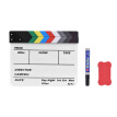 Professional Acrylic Clapboard Dry Erase TV Film Movie Director Cut Action Scene Clapper Board Slate With Marker Pen Eraser