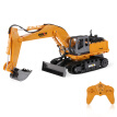 Original HUI NA TOYS NO.1510 2.4GHz 11CH Alloy Engineering Electronic Excavator Heavy Machinery RC Toys Car Truck