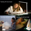 Led Desk Lamp, Adjustable 3 Lighting Modes, 5-Level Dimmer, Touch-Sensitive Control Panel with USB Charging Cord, White