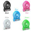 LED Light Fan Electric Air Cooler Mini Desk USB Fan Fashion Hobbies Desk Personal Fan 3 Speed Mode Flexible Ventilator Bed Office