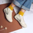 Dafu Feiyue feiyue men and women retro high to help Harajuku style beige casual couple canvas high to help small white shoes 922 meters black 34