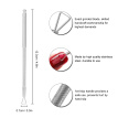 1Pc Stainless Steel Nail Glue Remover Triangle Head Manicure Cleaner Nail Polish Remover Nail Cuticle Pusher Manicure Gel Polish R