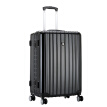 OIWAS Aircraft Wheel Trolley Case Aluminum Frame Password Lock Luggage 24 Inch Aluminum Alloy Trolley Business Travel Travel Hard Case OCX6350 Black