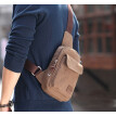 Men Retro Canvas Sling Chest Bag Zipper Shoulder Bag Cycling Bag Messenger Bags