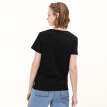 Tokyo Tokyo made J.ZAO Ms. Ammonia cotton short-sleeved T-shirt black M (160/80A)