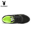 Playboy (PLAYBOY) sports running mesh casual shoes men's belt with lightweight wild DS83097 black 39