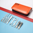 Korea Kowell Han Kewei nail clipper import stainless steel nail clippers personal care repair capacity combination 8 piece set KE801 orange
