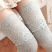 Lace over knee socks  Vertical top high tube cotton sole stockings  Antiskid stockings