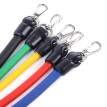 LEAJOY 11pcs / Set Natural Tube Exercise Stretched Bands Elastic Training Pull Rope Yoga Pilates Workout Cordage
