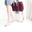 Yeluomi (yeluomi) portable foldable travel bag can hang trolley case storage bag travel business travel shoulder bag clothes item finishing bag Y502 wine red