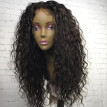 150% Density Curly Human Hair Glueless Full Lace Wig Brazilian Virgin Hair Natural Color For Black Magic Girl