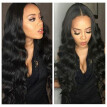 Unprocessed Body Wave Human Hair Full Lace  Wigs with Baby Hair Brazilian Virgin Natural Color Pre Plucked Natural Hairline Wig