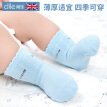 Tile small jacquard wave mouth baby socks 6 pairs of malt yellow * 2 pearl white * 2 sea sky blue * 2 0-2 years old children