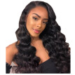 BOWIN Loose Wave Full Lace Human Hair Wigs with Pre-plucked Natural Color