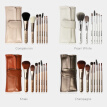 7 Pcs Champagne Colored  Makeup Brushes Tool Set Removable Multifunction Beauty Make Up Brush with Makeup Bag