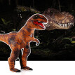 Adults Super Tyrannosaurus Inflatable Costume Props Blow Up Inflatable Fancy Dress for Halloween Cosplay Party Stage Performance
