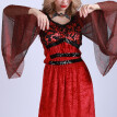 Lady Halloween Sexy Vampire Costume Fancy Dress Masquerade Cosplay Party Performance Clothes Props--M Size