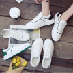 New small white shoes, women's shoes, Korean version of white shoes, student canvas shoes, spring thick soled casual board shoes,