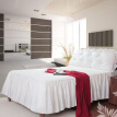 Fashion New Grey White Single/Double/King Size Bed Sheet Bedding Home Bedspread