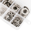 400 pcs Assorted Stainless Steel Flat Washers Set 8 Size - M2 M2.5 M3 M4 M5 M6 M8 M10