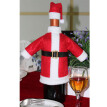 Santa Claus Wine Lovely Decoration with Hat Clothing Red Wine Bottle Case