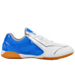 Li Ning LI-NING badminton shoes men's ping-pong sneakers national team Aurora professional breathable non-slip training shoes APTM001-1 white / blue / silver 44/10.5