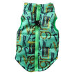 Dog Clothes Green Letters Purple Gold Coins Pattern Pet Soft Padded Vest Harness Multi-size Clothes For Dogs