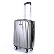US travel trolley case 20 inch universal wheel mute luggage male business travel female suitcase Deng chassis TSA password lock BJ9 silver