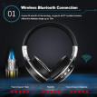 ZEALOT B19 Bluetooth Headphone Wireless Stereo Earphone Foldable Over Ear Headset 3.5mm AUX In LCD Display FM Radio TF Card Slot w