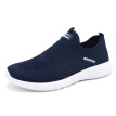 Pull back Warrior casual men's mesh breathable soft bottom running shoes WXY-L043C dark blue 42