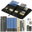 40PCS Sketch Tool Kit Pencils Charcoal Extender Paper Pen Cutter Eraser Drawing Set with Bag