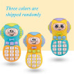 Cell Phone Toy Kids Mobile Phone Toy Cell Phone Toddler Toy with Music Light Cute Baby Face for Babies Toddlers Children Boys Girl